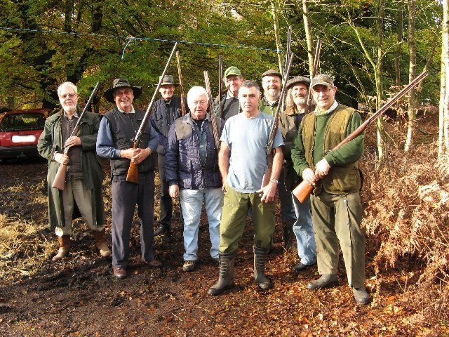 A group of Branch members after a morning spent clay shooting